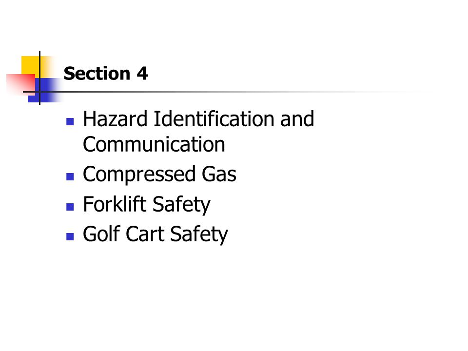 Hazard Identification and Communication Compressed Gas Forklift Safety