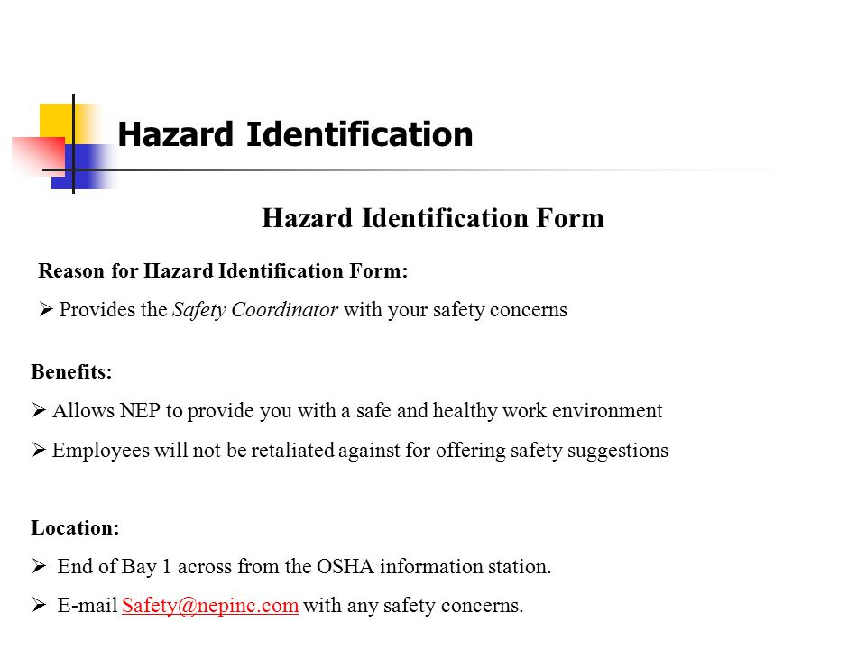 Hazard Identification Form
