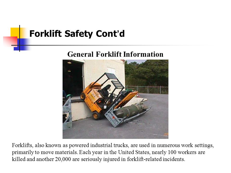 General Forklift Information