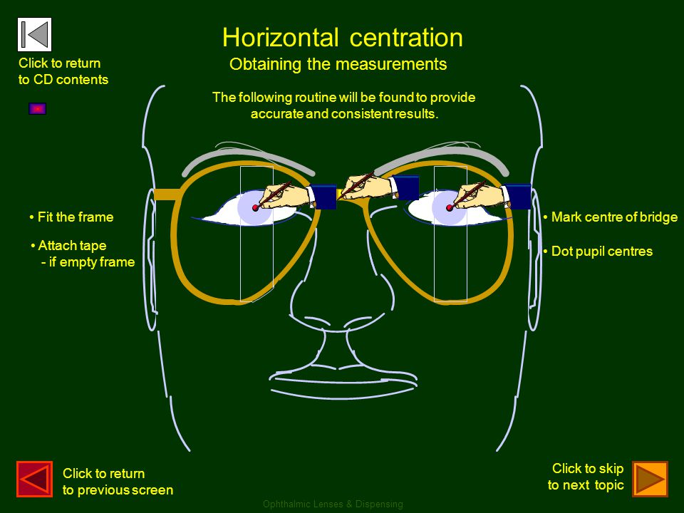 . . Horizontal centration Obtaining the measurements Click to return