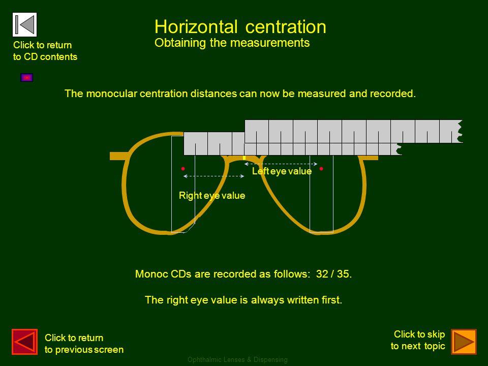 . . Horizontal centration Obtaining the measurements