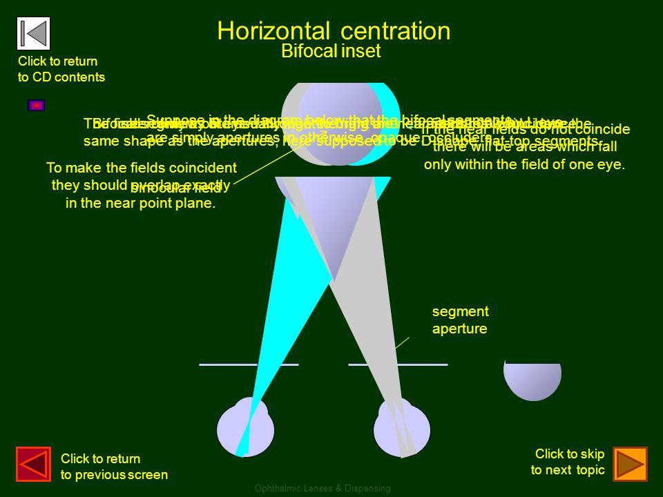 Horizontal centration