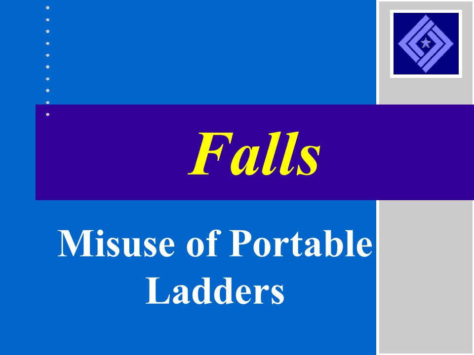 Misuse of Portable Ladders