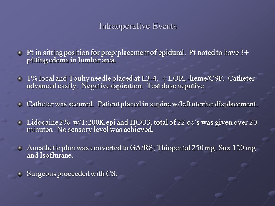 Intraoperative Events