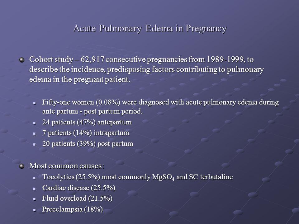 Acute Pulmonary Edema in Pregnancy