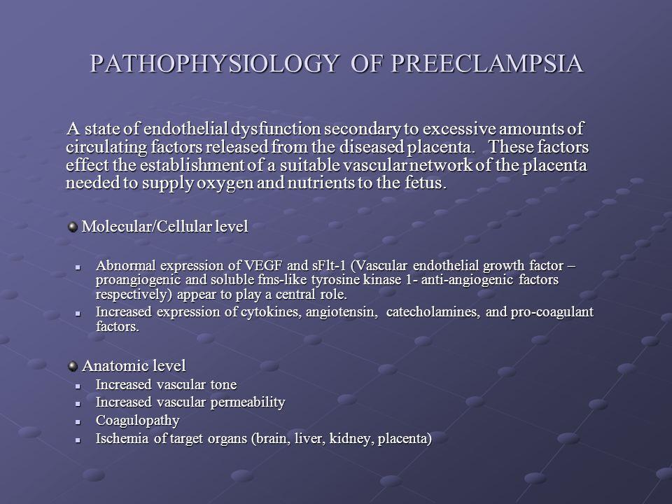 PATHOPHYSIOLOGY OF PREECLAMPSIA