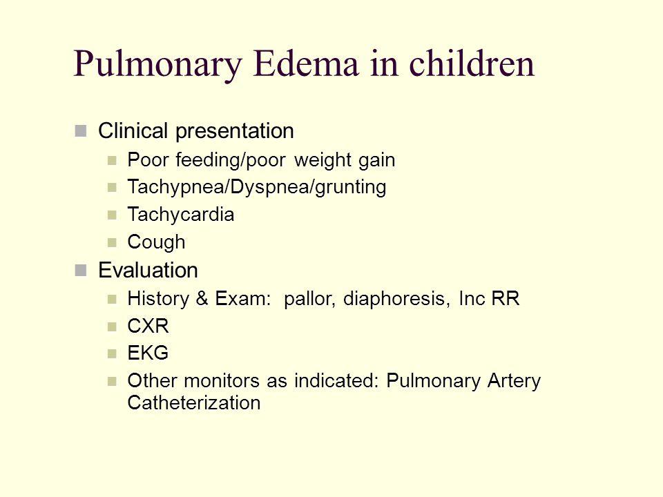 Pulmonary Edema in children