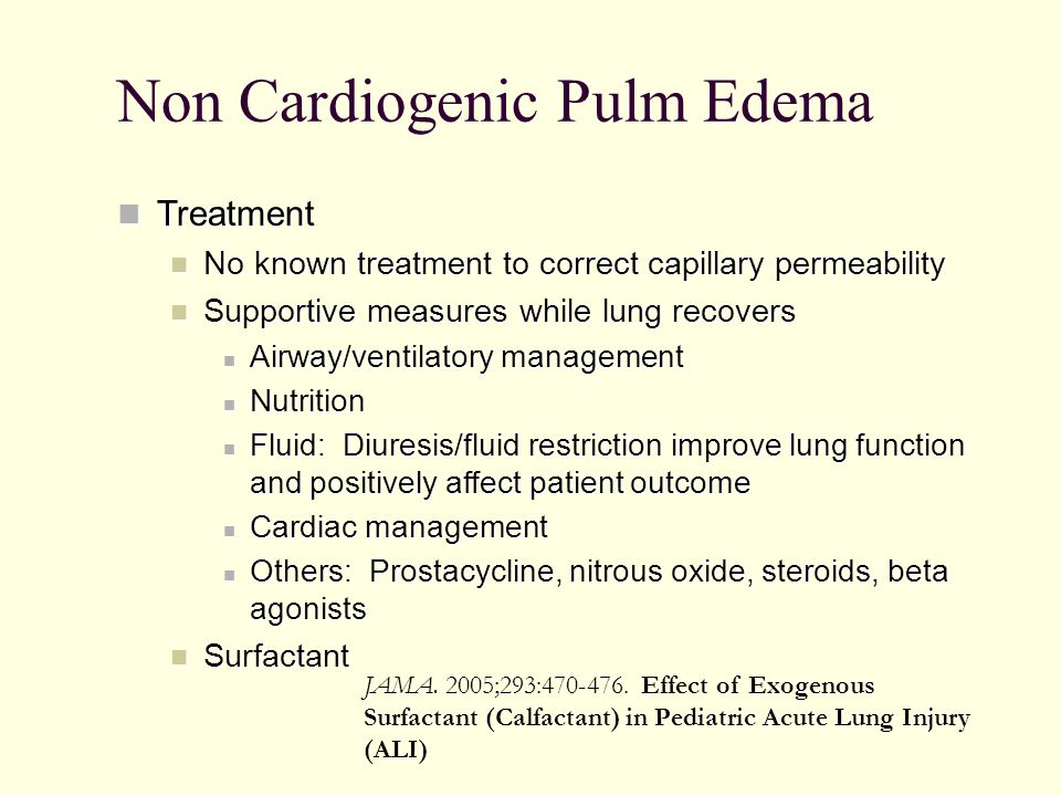 Non Cardiogenic Pulm Edema
