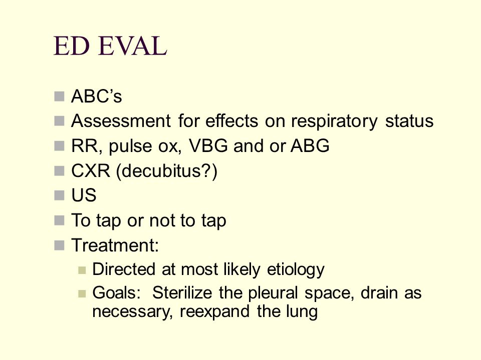 ED EVAL ABC's Assessment for effects on respiratory status