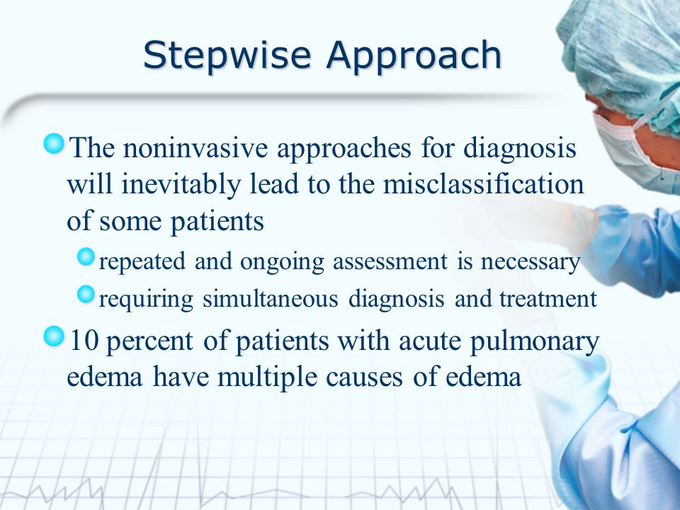 Stepwise Approach The noninvasive approaches for diagnosis will inevitably lead to the misclassification of some patients.