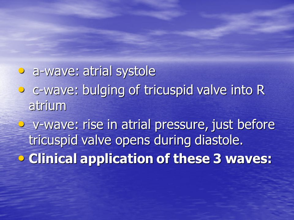 a-wave: atrial systole