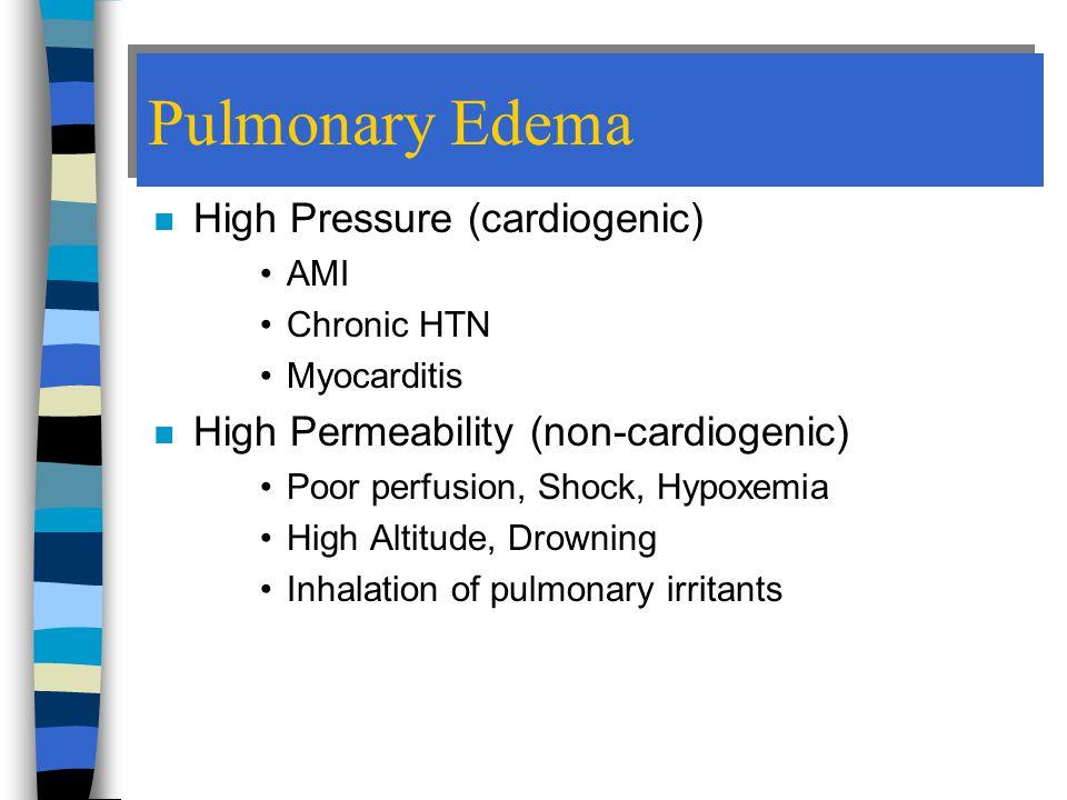 Pulmonary Edema High Pressure (cardiogenic)