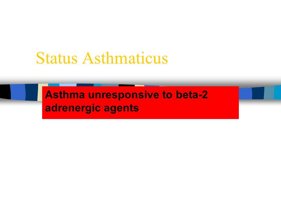 Asthma unresponsive to beta-2 adrenergic agents