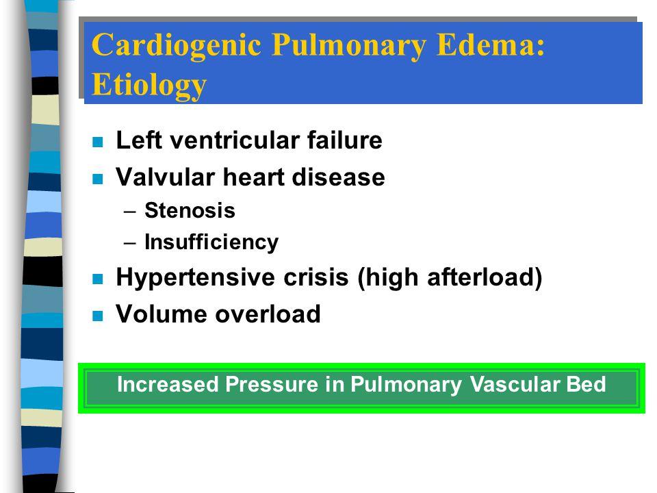 Cardiogenic Pulmonary Edema: Etiology