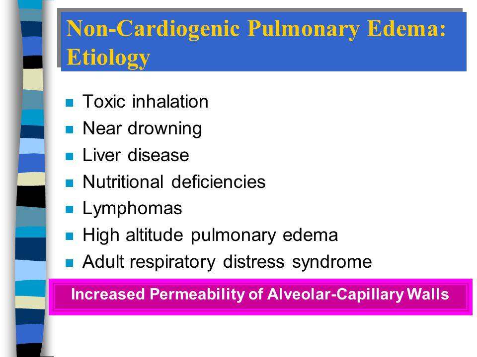 Non-Cardiogenic Pulmonary Edema: Etiology