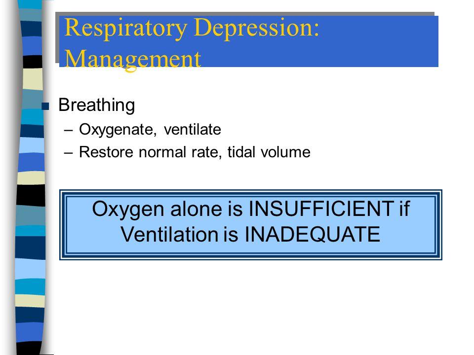 Respiratory Depression: Management