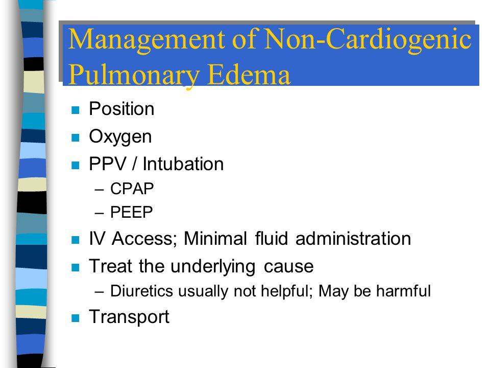 Management of Non-Cardiogenic Pulmonary Edema
