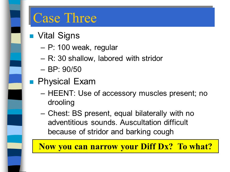 Now you can narrow your Diff Dx To what