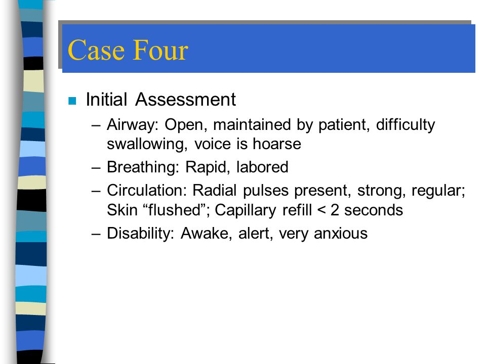 Case Four Initial Assessment