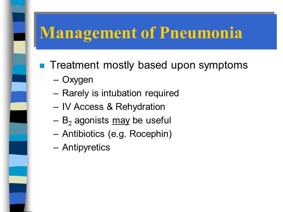 Management of Pneumonia