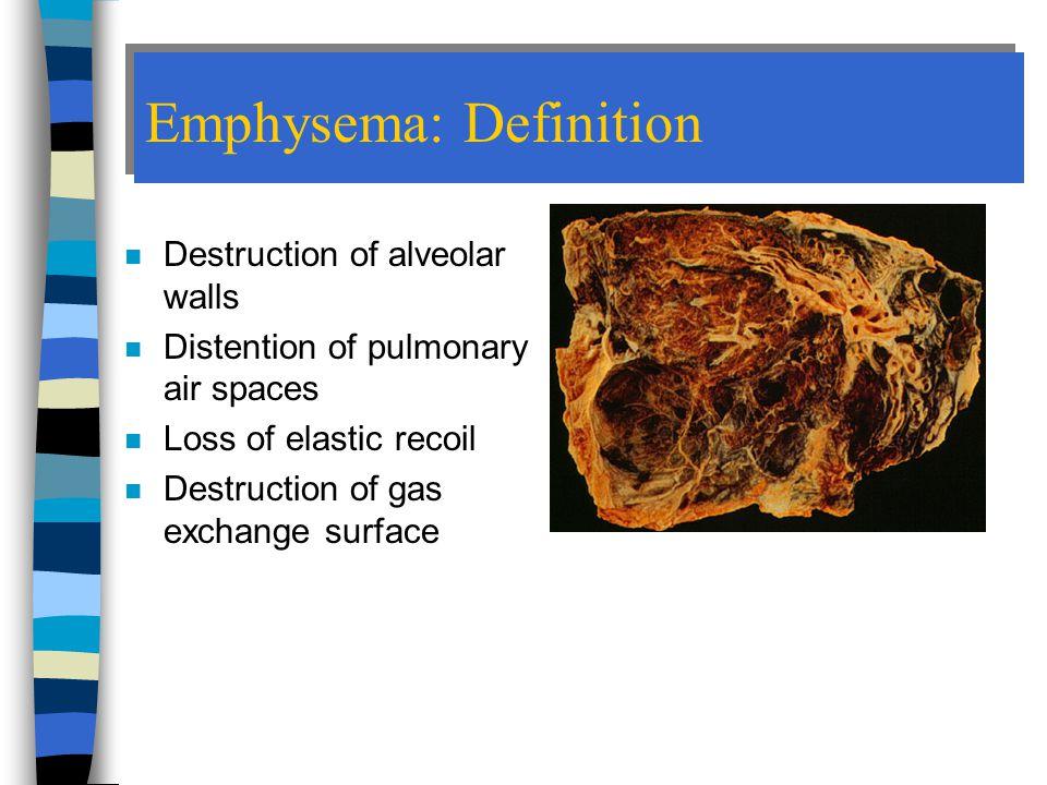 Emphysema: Definition