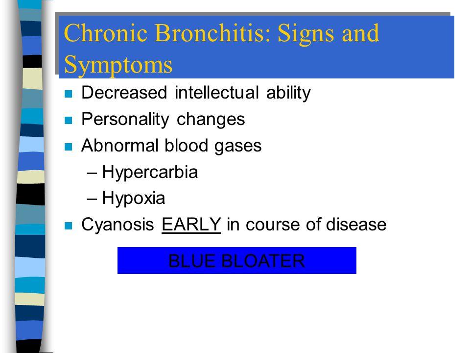 Chronic Bronchitis: Signs and Symptoms