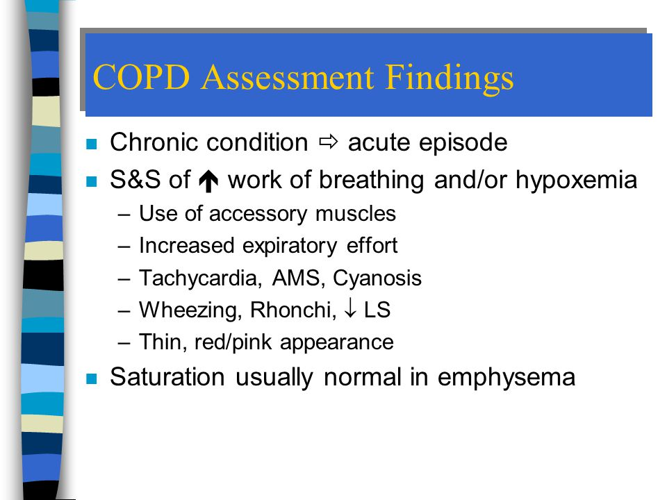 COPD Assessment Findings