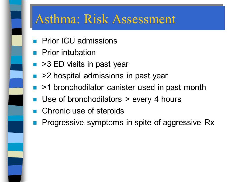 Asthma: Risk Assessment