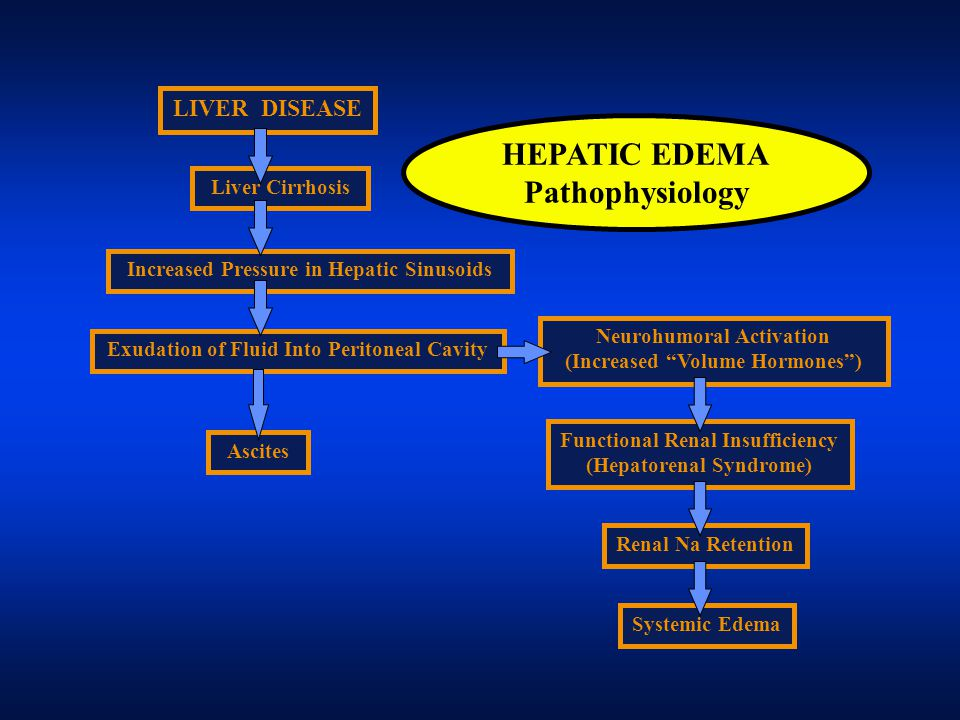 HEPATIC EDEMA Pathophysiology