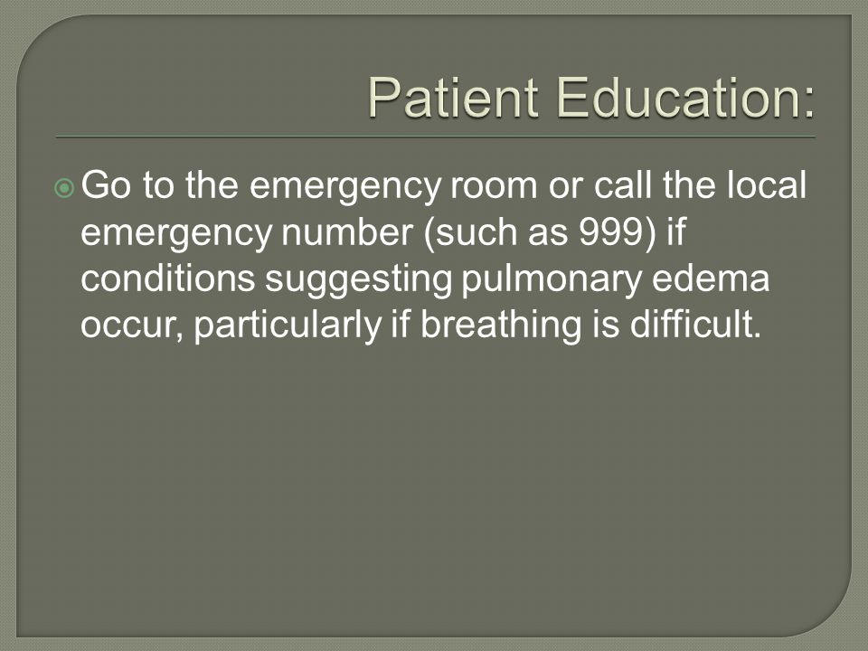 Patient Education: