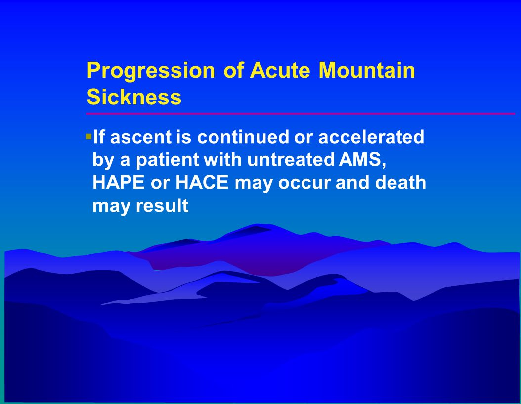 Progression of Acute Mountain Sickness