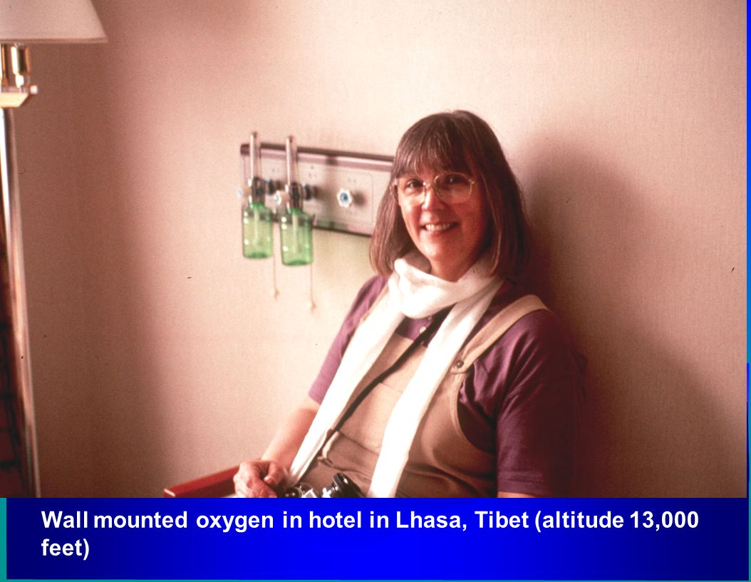 Wall mounted oxygen in hotel in Lhasa, Tibet (altitude 13,000 feet)