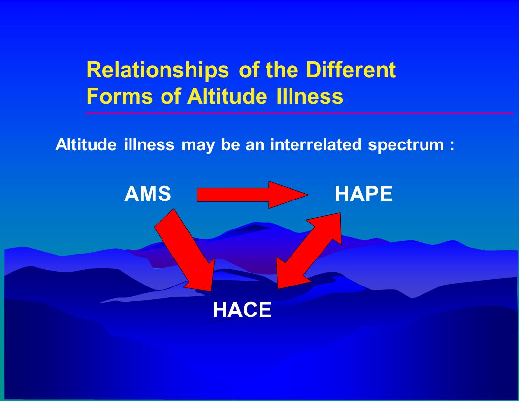 Relationships of the Different Forms of Altitude Illness