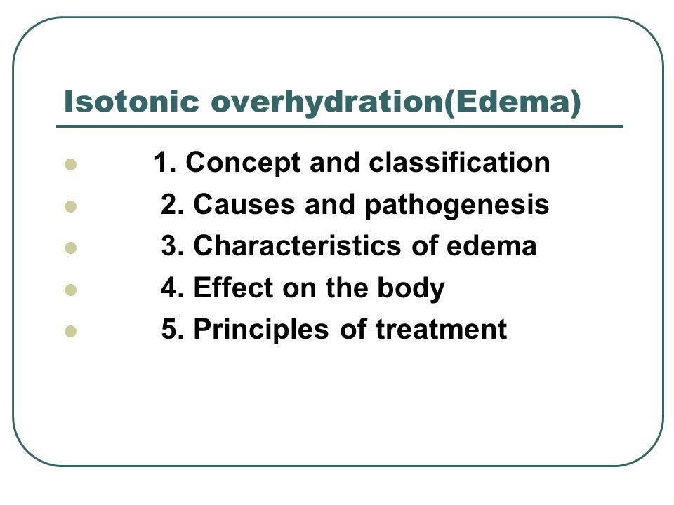 Isotonic overhydration(Edema)