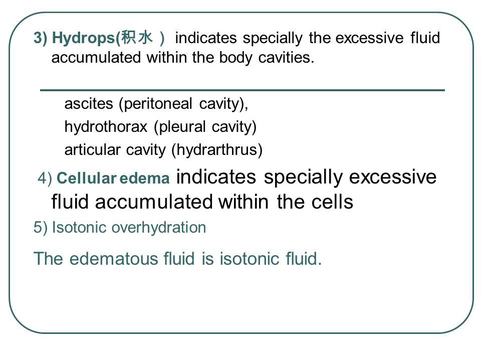 The edematous fluid is isotonic fluid.
