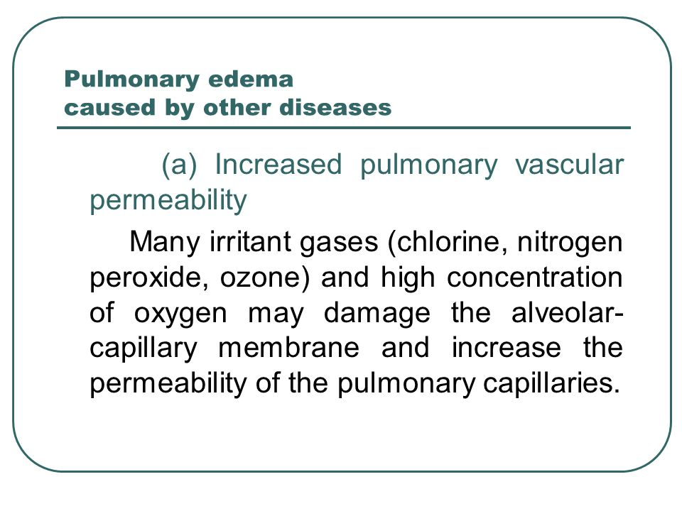 Pulmonary edema caused by other diseases