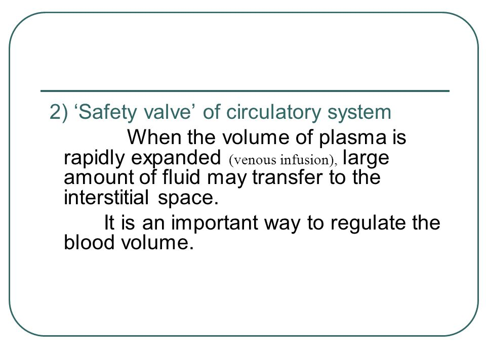 It is an important way to regulate the blood volume.