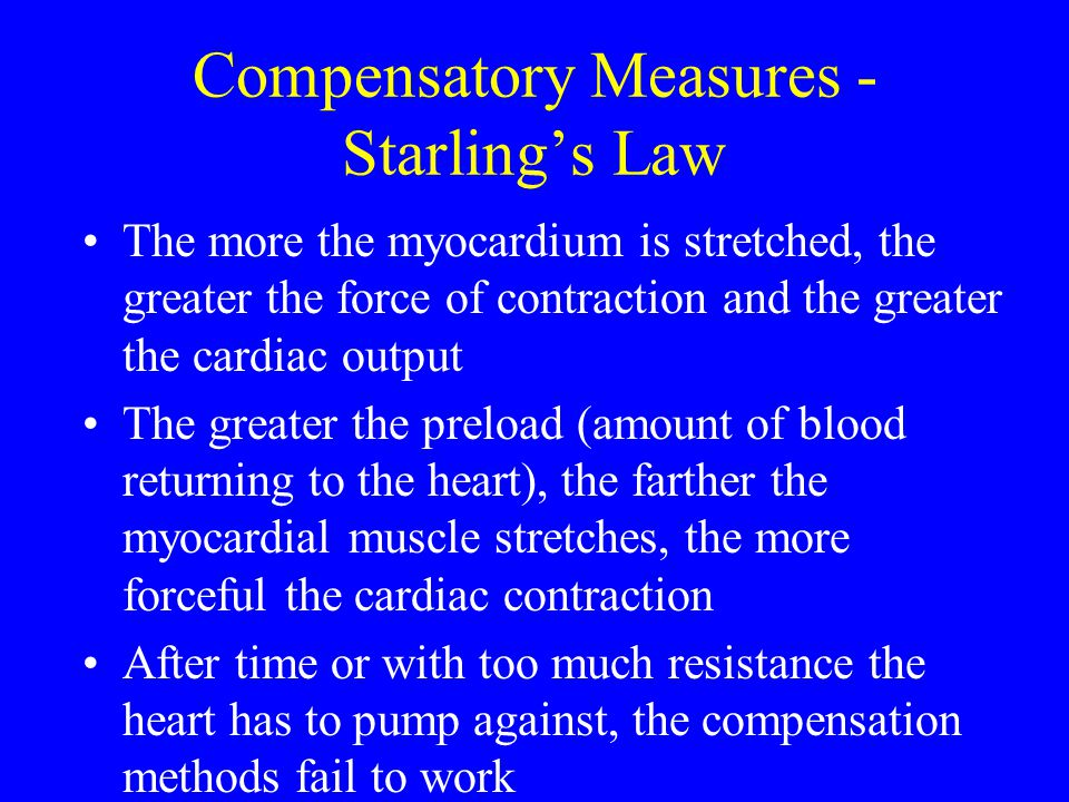 Compensatory Measures - Starling's Law