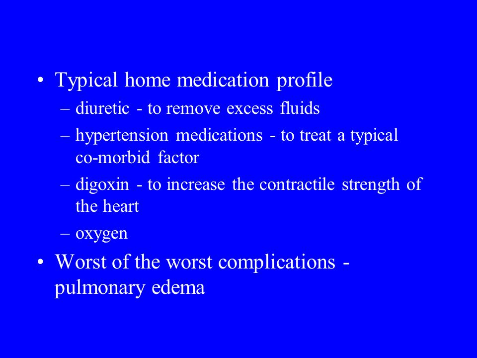 Typical home medication profile