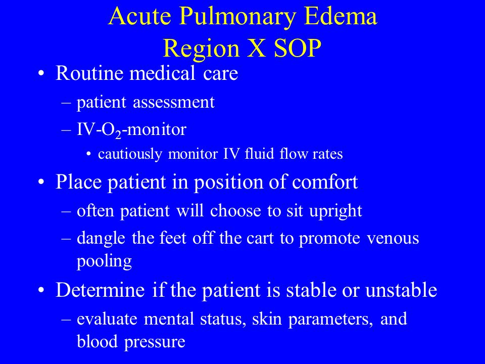 Acute Pulmonary Edema Region X SOP
