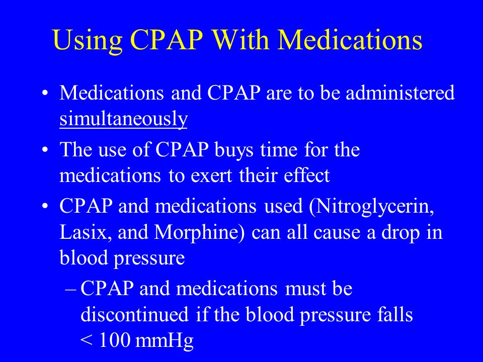Using CPAP With Medications