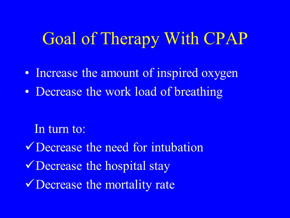 Goal of Therapy With CPAP