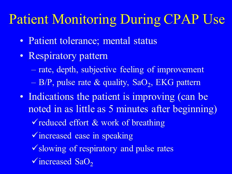 Patient Monitoring During CPAP Use