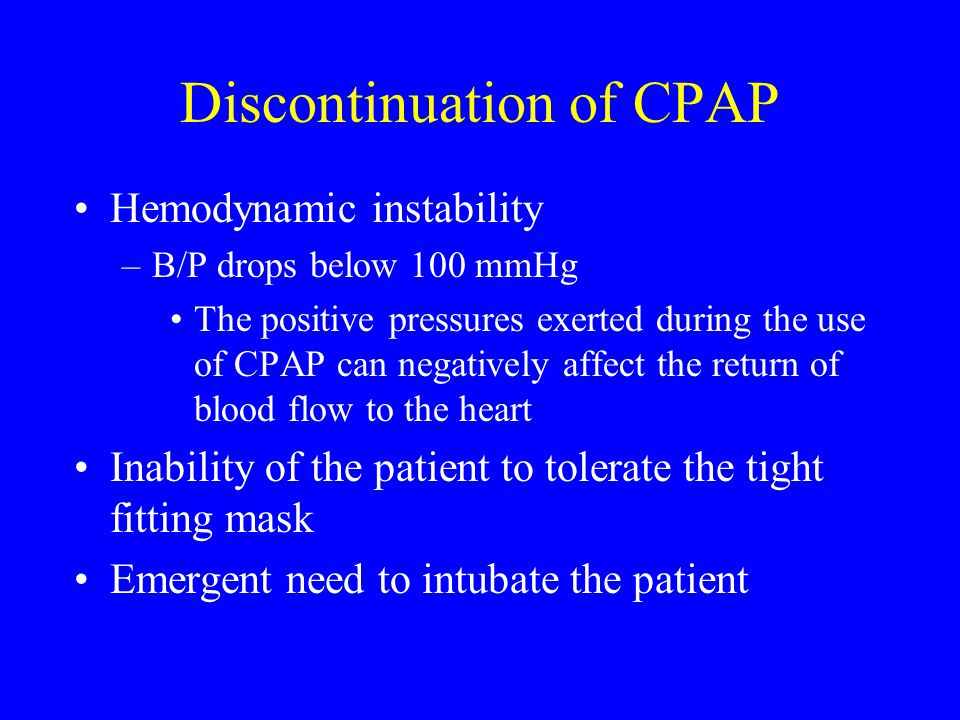 Discontinuation of CPAP