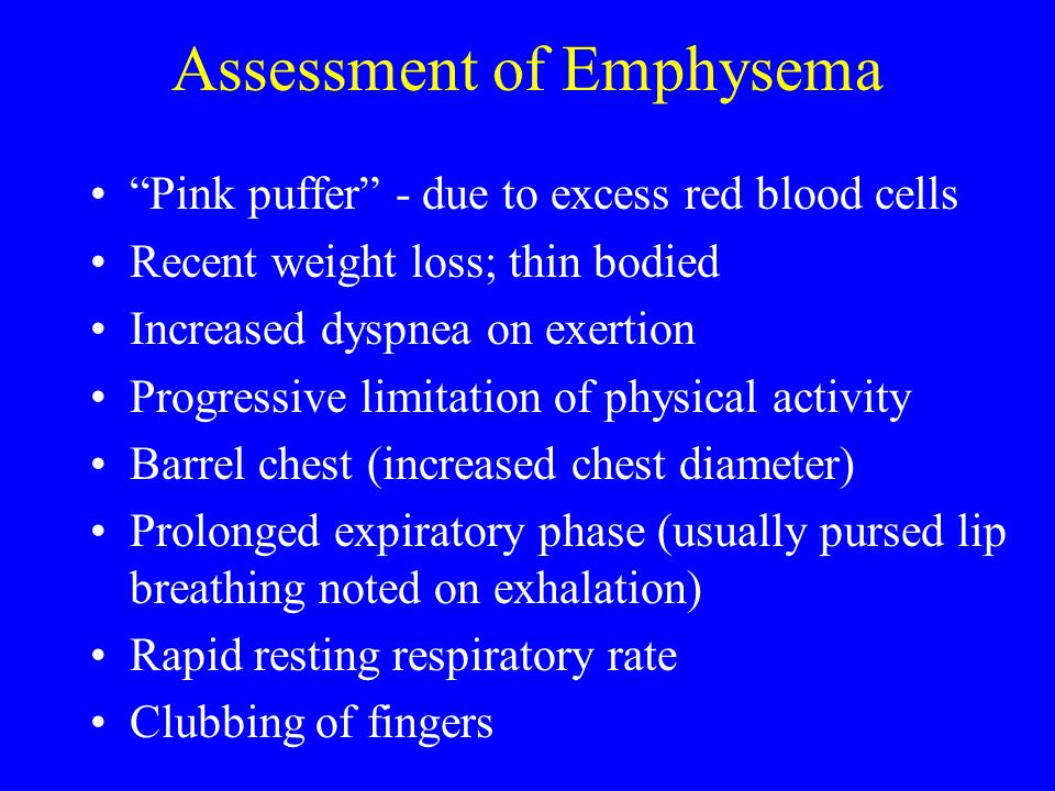 Assessment of Emphysema