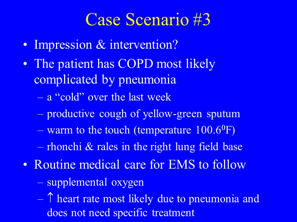 Case Scenario #3 Impression & intervention