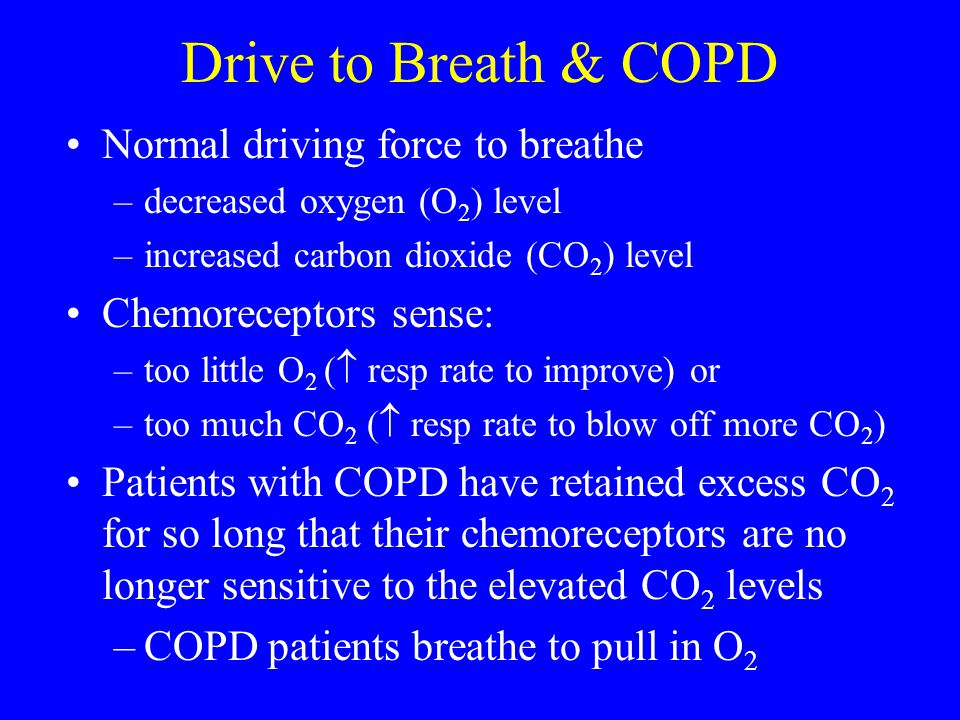 Drive to Breath & COPD Normal driving force to breathe