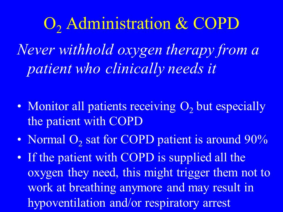 O2 Administration & COPD