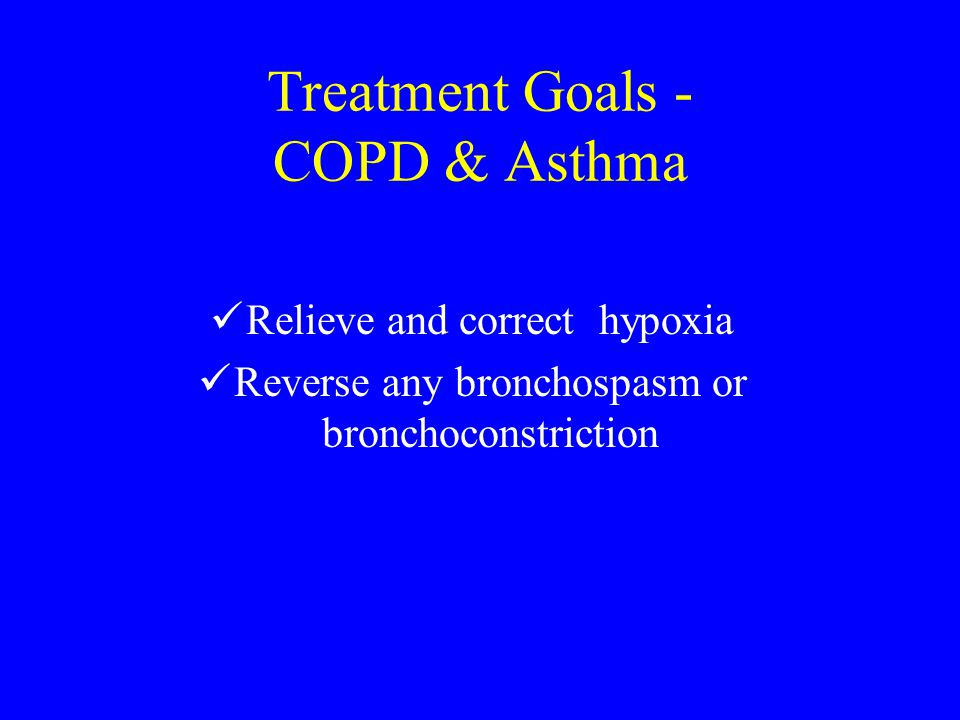 Treatment Goals - COPD & Asthma