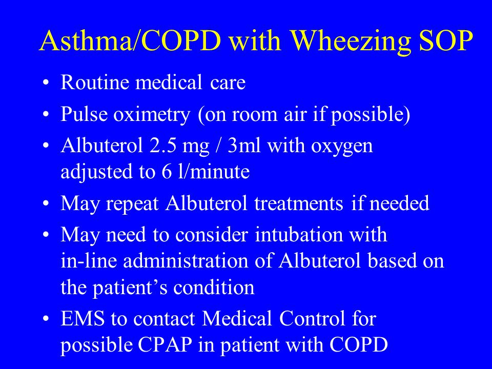 Asthma/COPD with Wheezing SOP